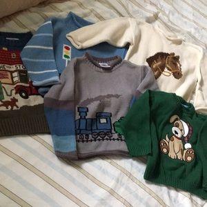 Boys 4T Sweater Lot